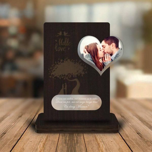 Cadou personalizat Trofeu -  Inima (Poza si mesaj)