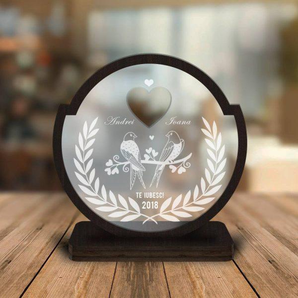 Cadou personalizat Trofeu  -  Porumbelul cuplu