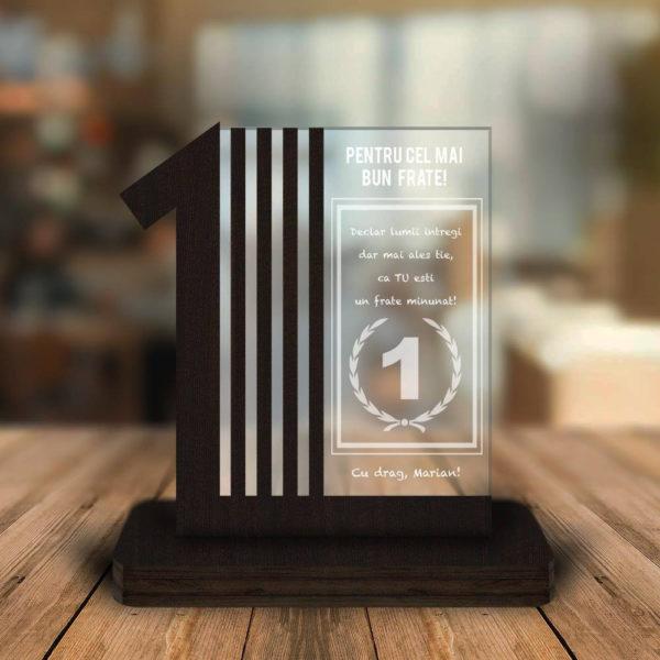 Cadou personalizat Trofeu - Pentru cel mai bun frate