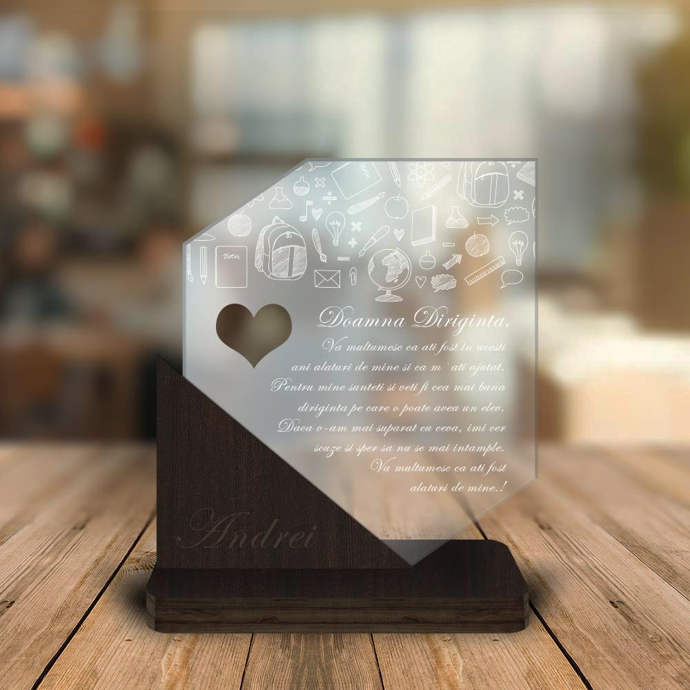 Cadou personalizat Trofeu pentru Diriginta/e - Cadou de corigenta