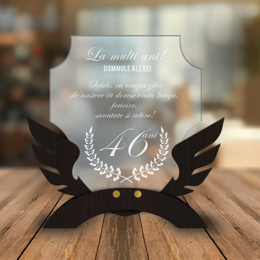 Cadou personalizat Trofeu - Pentru sef - Zi onomastica