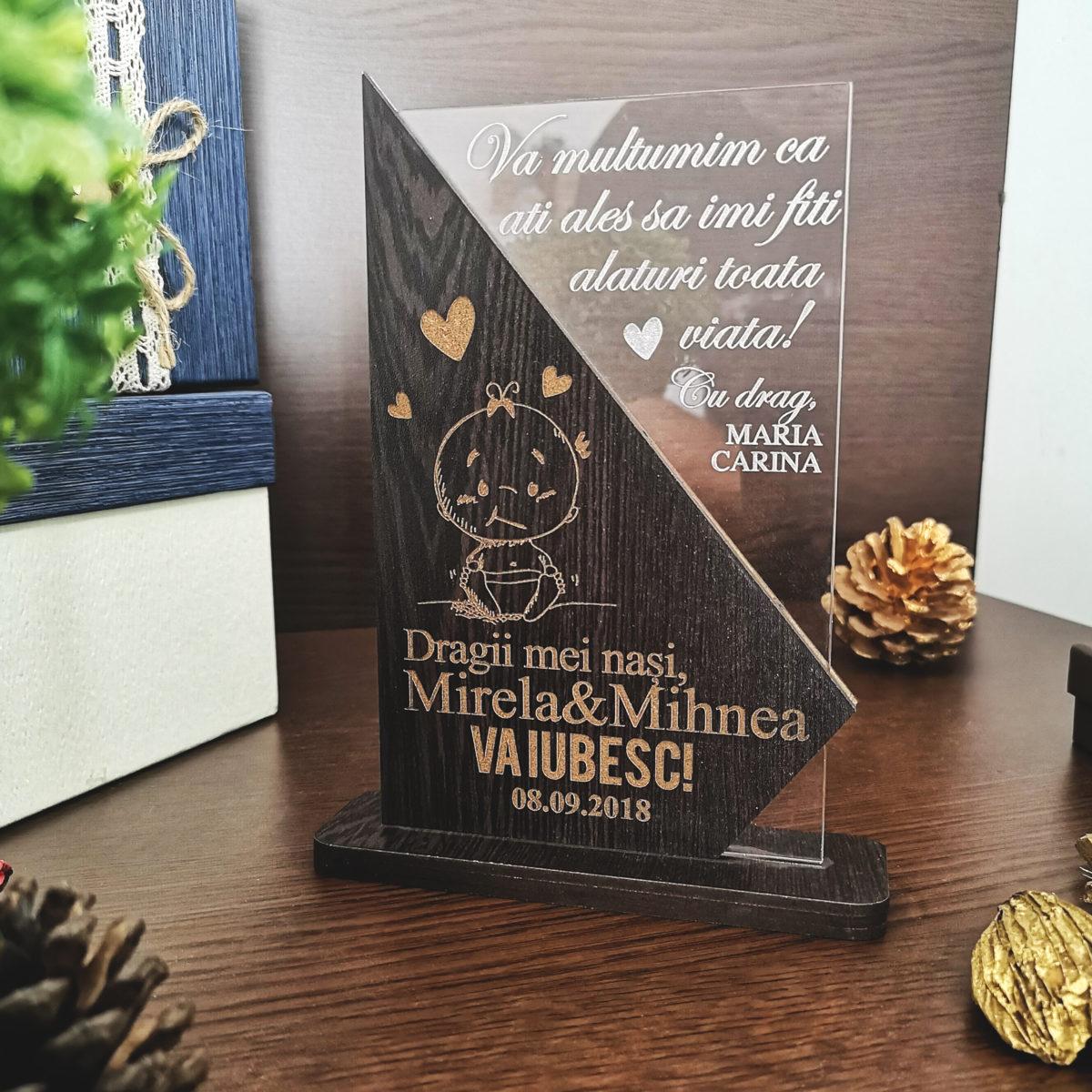Cadou personalizat Trofeu - Special pentru nasii de botez