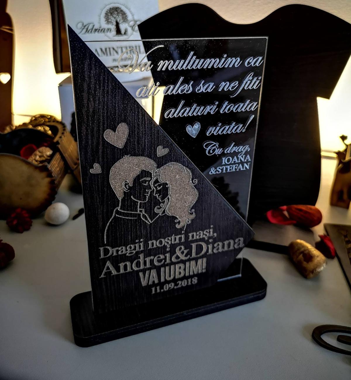 Cadou personalizat Trofeu - Special pentru nasi