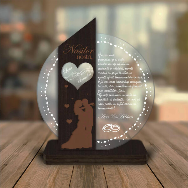 Cadou personalizat Trofeu - Placheta pentru nasi