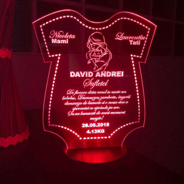 Cadou personalizat Trofeu LED - Sufletel