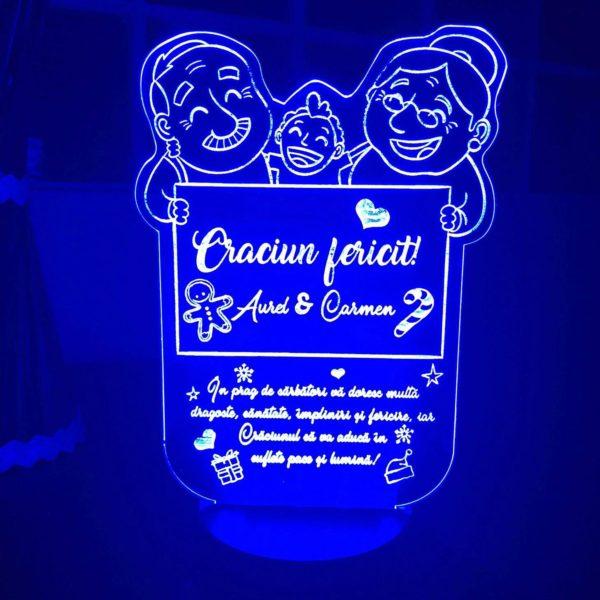 Cadou personalizat Trofeu LED - Pentru bunici