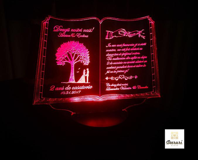 Cadou personalizat Trofeu LED - Pentru nasi - Carticica