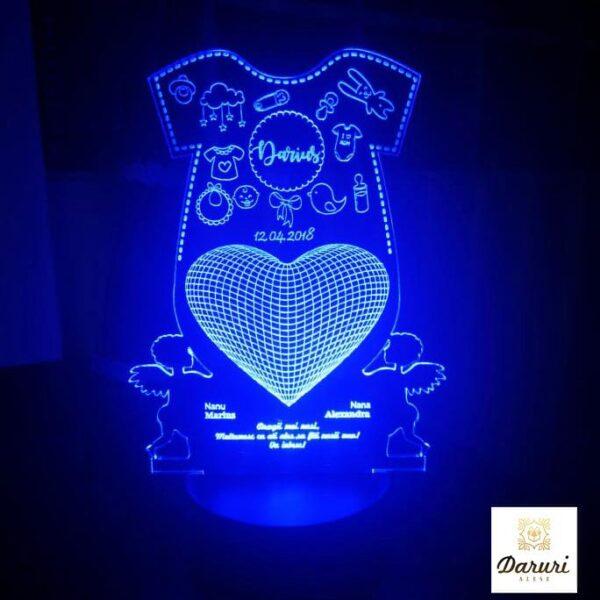 Cadou personalizat Trofeu LED - Pentru nasi de botez