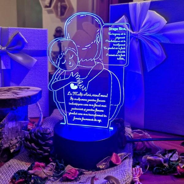 Cadou personalizat Trofeu LED - Eroul meu tata -  Model 2