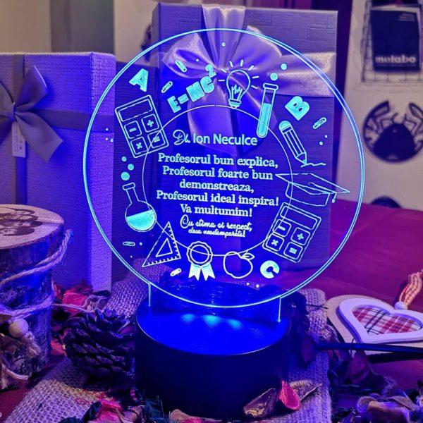 Cadou personalizat Trofeu LED - Special pentru Profesor - Model 5