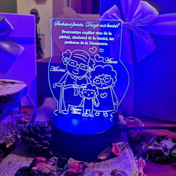 Cadou personalizat Trofeu LED pentru bunici Bunici