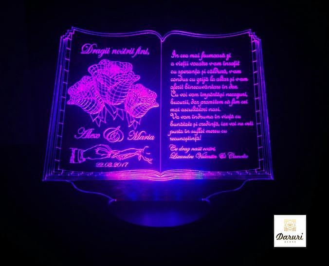 Cadou personalizat Trofeu LED - Pentru fini- Carticica
