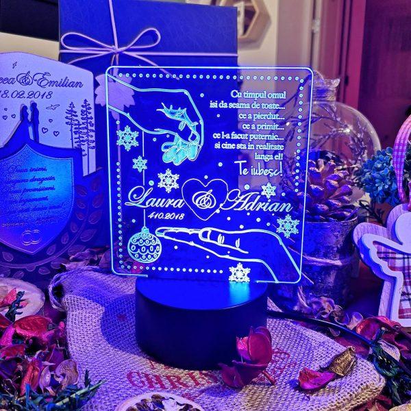 Cadou personalizat Trofeu LED pentru iubita/a
