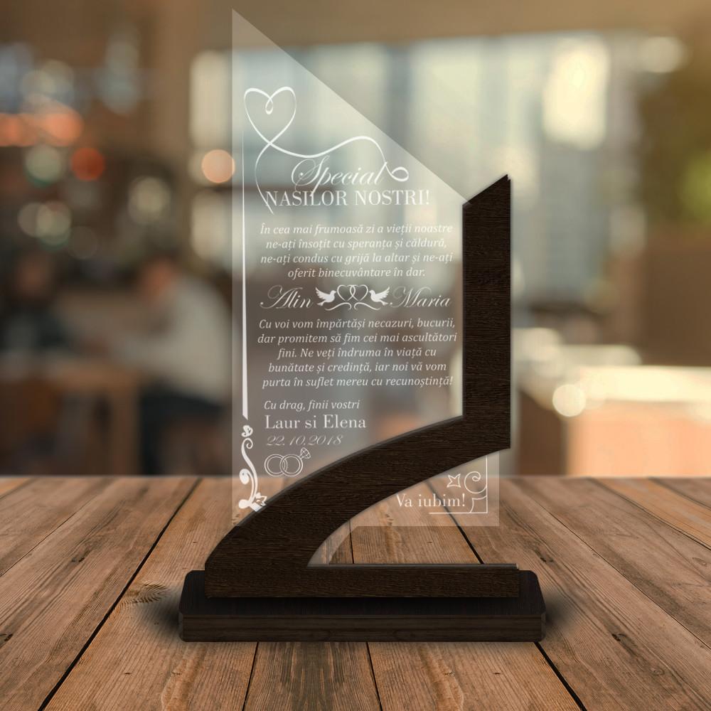 Cadou personalizat Trofeu - Special pentru nasii nostri!