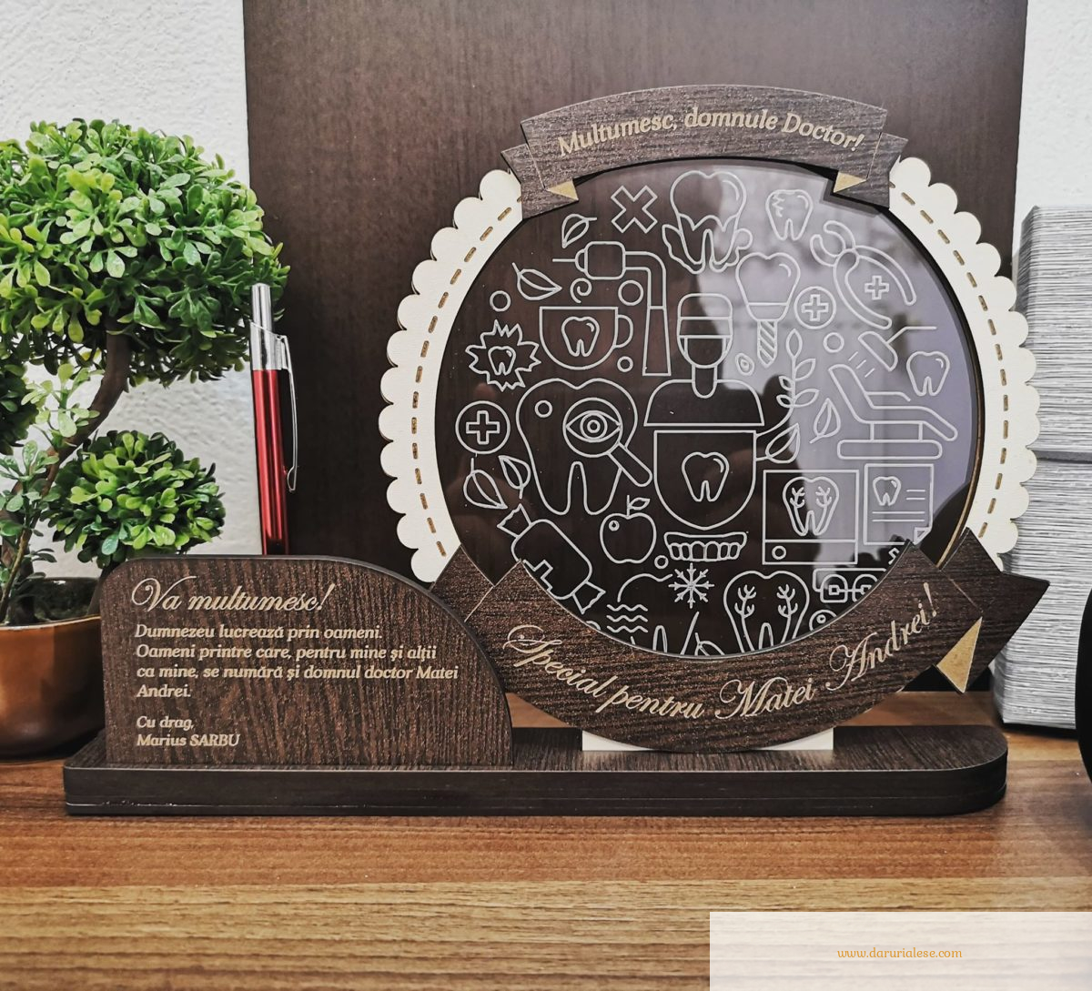 Cadou personalizat Trofeu - Doctor Stomatolog