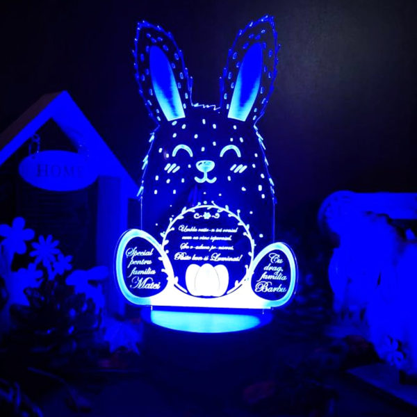 Cadou personalizat Trofeu LED - Mormaila Paste!