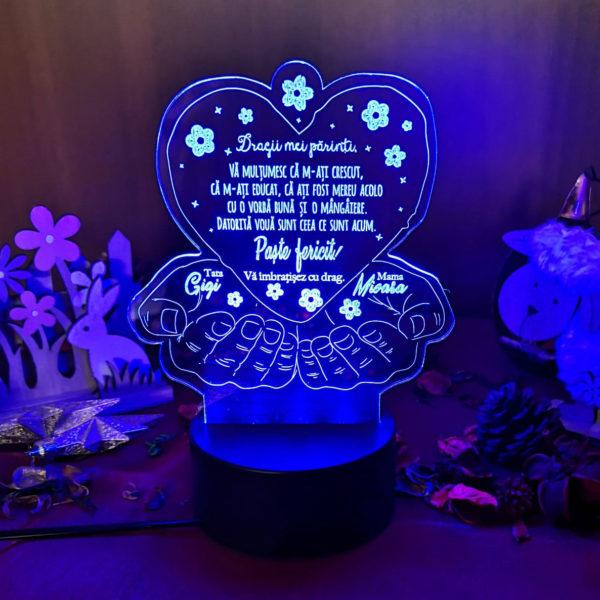 Cadou personalizat Trofeu LED de Paste pentru parinti
