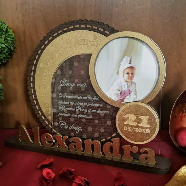 Cadou botez lux - Trofeu personalizat