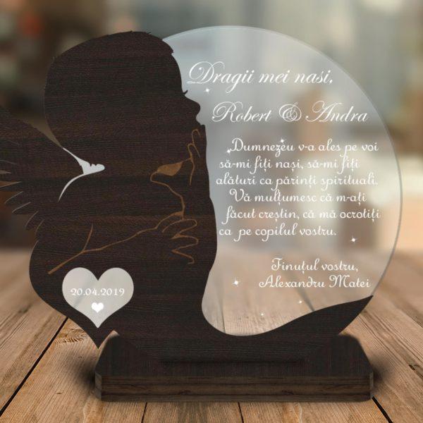 Cadou personalizat Trofeu - Soapte pentru nasii de botez