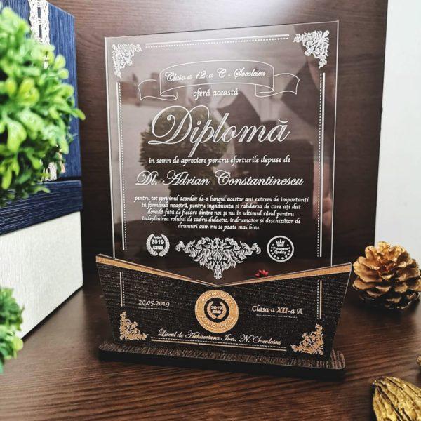 Diploma profesor - Trofeu cadou personalizat