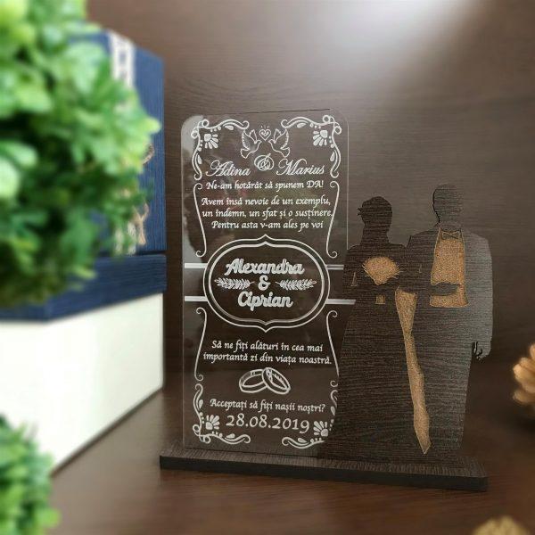 Cadou personalizat Trofeu - Cerere nasi
