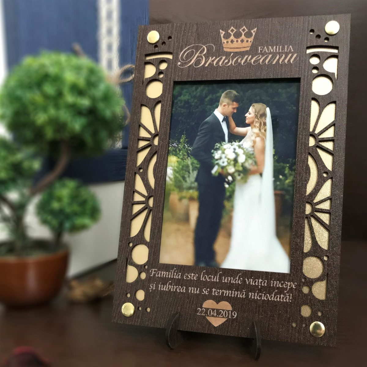Rama foto personalizata premium - Cadou de nunta