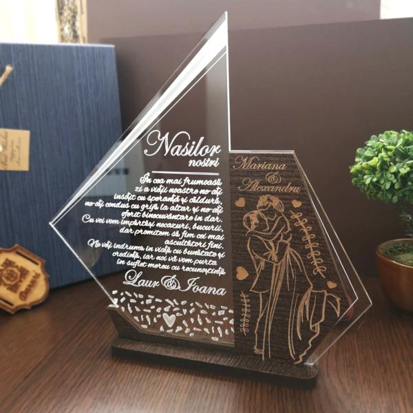 Cadou personalizat Trofeu pentru nasi - Recunostinta