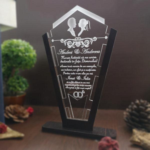 Cadou personalizat Trofeu pentru nasi - Cerere nasi Decupaje