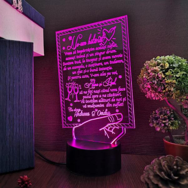 Cadou personalizat Trofeu personalizat - Invitatie nasi