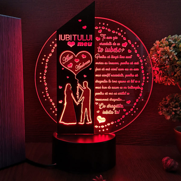Cadou personalizat Trofeu LED - Iubitului meu