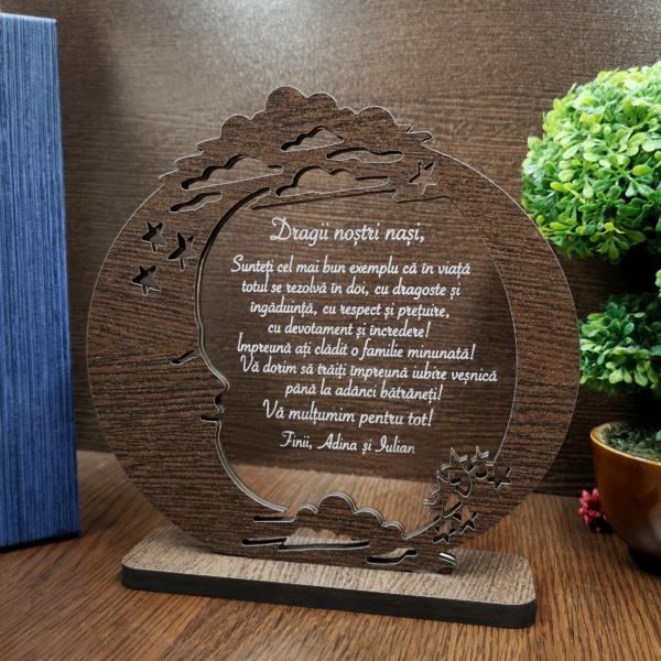 Cadou personalizat - Trofeu de multumire pentru nasi