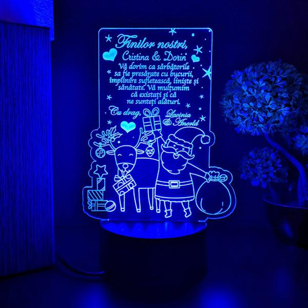 Cadou personalizat pentru fini de Craciun - LED multicolor