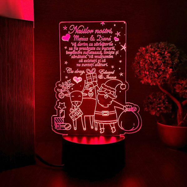 Cadou personalizat de Craciun - Nasilor nostri - LED multicolor