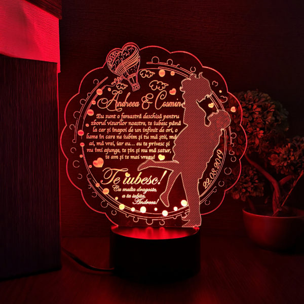 Cadou personalizat - Trofeu LED pentru persoana iubita