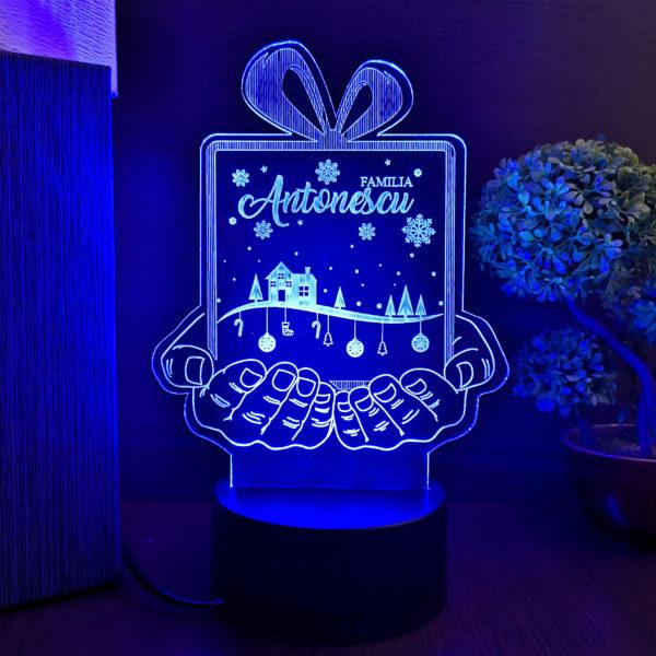Cadou personalizat pentru Craciun - Trofeu LED multicolor