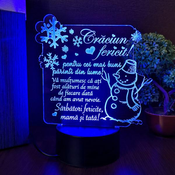 Trofeu pentru parinti de Craciun - LED multicolor