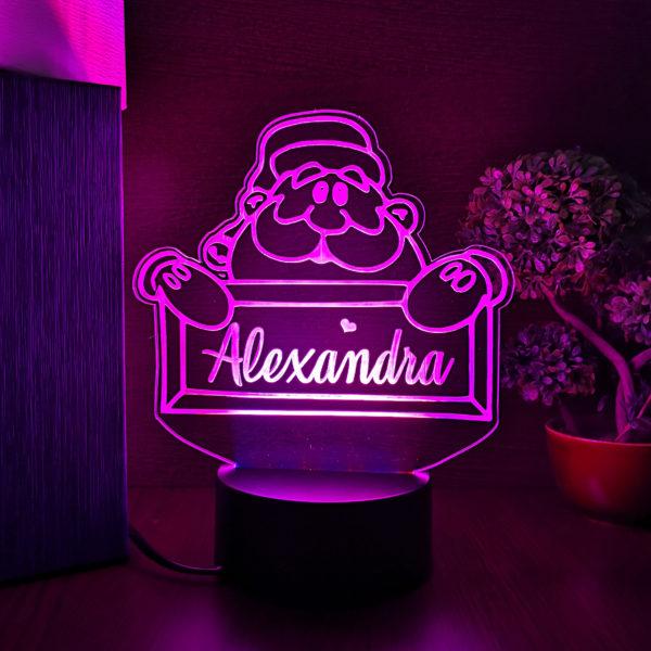 Cadou personalizat cu nume - Craciun - LED multicolor